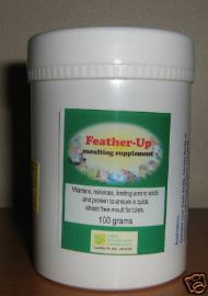 FEATHER-UP 100g - MOULTING SUPPLEMENT - Birdcare Co.